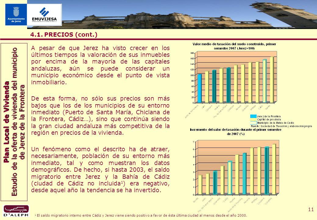 Plan Local de Vivienda Estudio de la oferta de vivienda del municipio de Jerez de la Frontera 11 4.1.