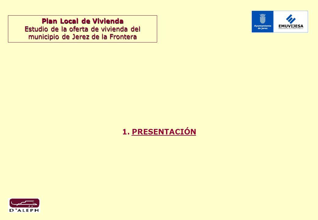 Plan Local de Vivienda Estudio de la oferta de vivienda del municipio de Jerez de la Frontera 3 1.