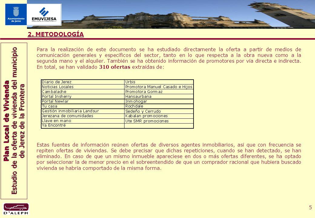 Plan Local de Vivienda Estudio de la oferta de vivienda del municipio de Jerez de la Frontera 16 4.3.