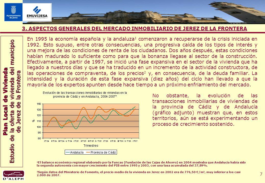Plan Local de Vivienda Estudio de la oferta de vivienda del municipio de Jerez de la Frontera 8 3.