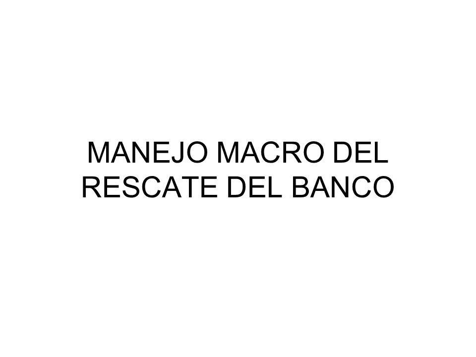 MANEJO MACRO DEL RESCATE DEL BANCO
