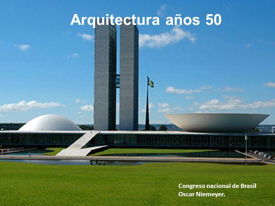 Arquitectura años 50 Congreso nacional de Brasil Oscar Niemeyer.