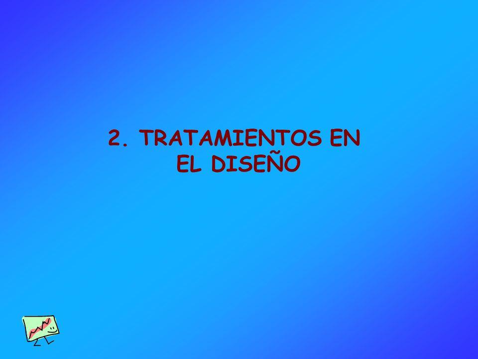 2. TRATAMIENTOS EN EL DISEÑO