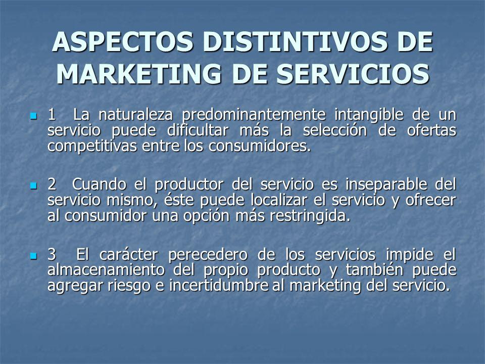 La mercadotecnia de servicios Es la aplicación de los principios de la mercadotecnia general a bienes intangibles, con sus respectivas diferencias que su propia naturaleza implica.
