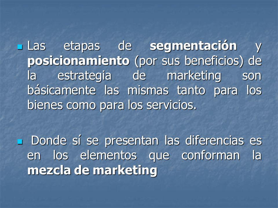 ASPECTOS DISTINTIVOS DE MARKETING DE SERVICIOS 1 La naturaleza predominantemente intangible de un servicio puede dificultar más la selección de ofertas competitivas entre los consumidores.