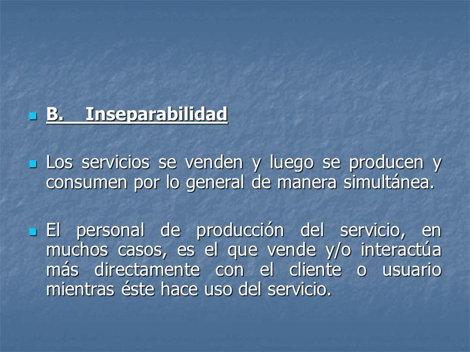 B.Inseparabilidad B.