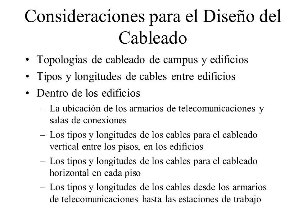 Topologías de Cableado Centralizadas y Distribuidas Un esquema de cableado centralizado tiene terminaciones de cable en un área del diseño.
