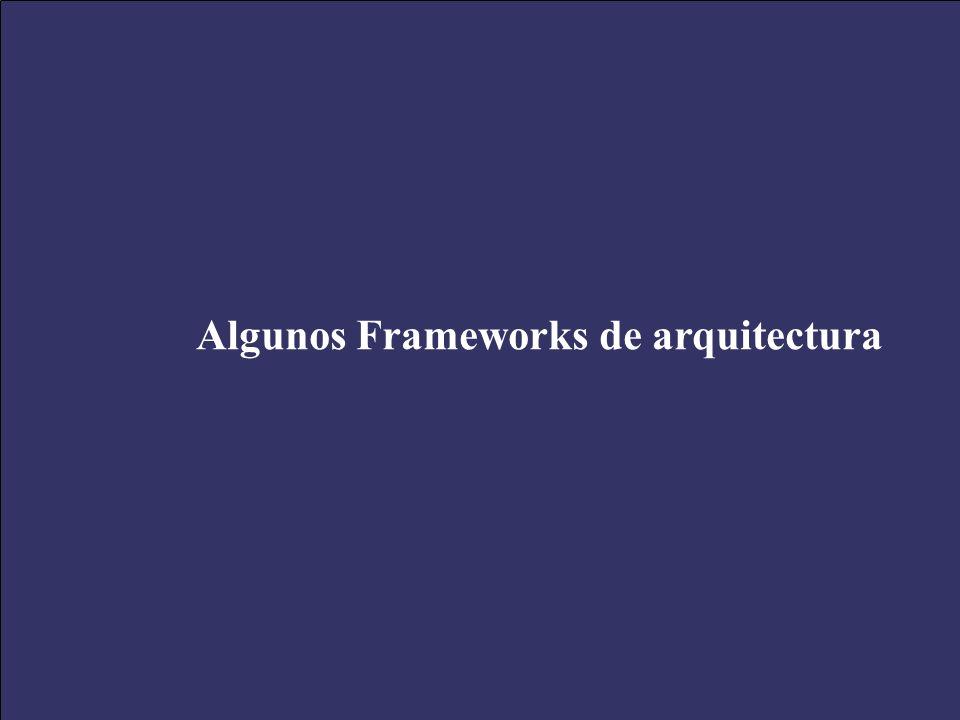 XXV Salón de Informática Arquitecturas Empresariales de Software Septiembre 28-Octubre 01 de 2005 43 Algunos Frameworks de arquitectura