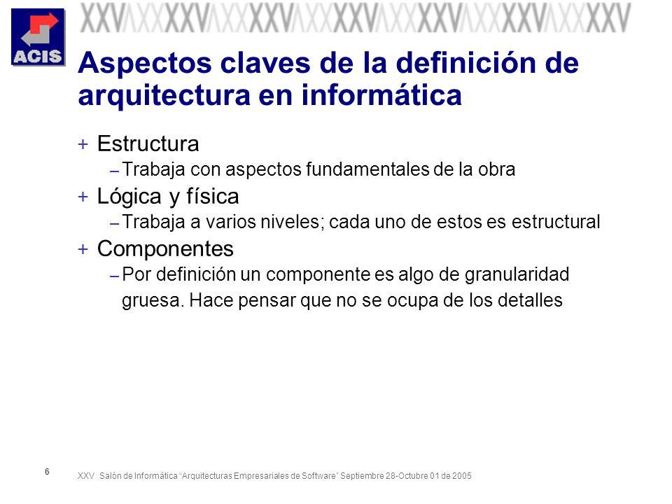 XXV Salón de Informática Arquitecturas Empresariales de Software Septiembre 28-Octubre 01 de 2005 57 4 +1 ( UP) ¿ Qué le falta .