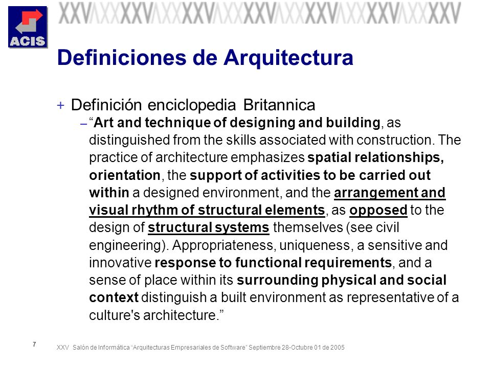 XXV Salón de Informática Arquitecturas Empresariales de Software Septiembre 28-Octubre 01 de 2005 48 Zachman – Resumen ( Vista Global) Tomado: Framework Zachman (www.zifa.com)