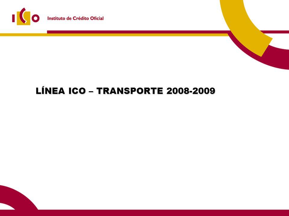 LÍNEA ICO – TRANSPORTE 2008-2009 LÍNEA ICO – TRANSPORTE 2008-2009
