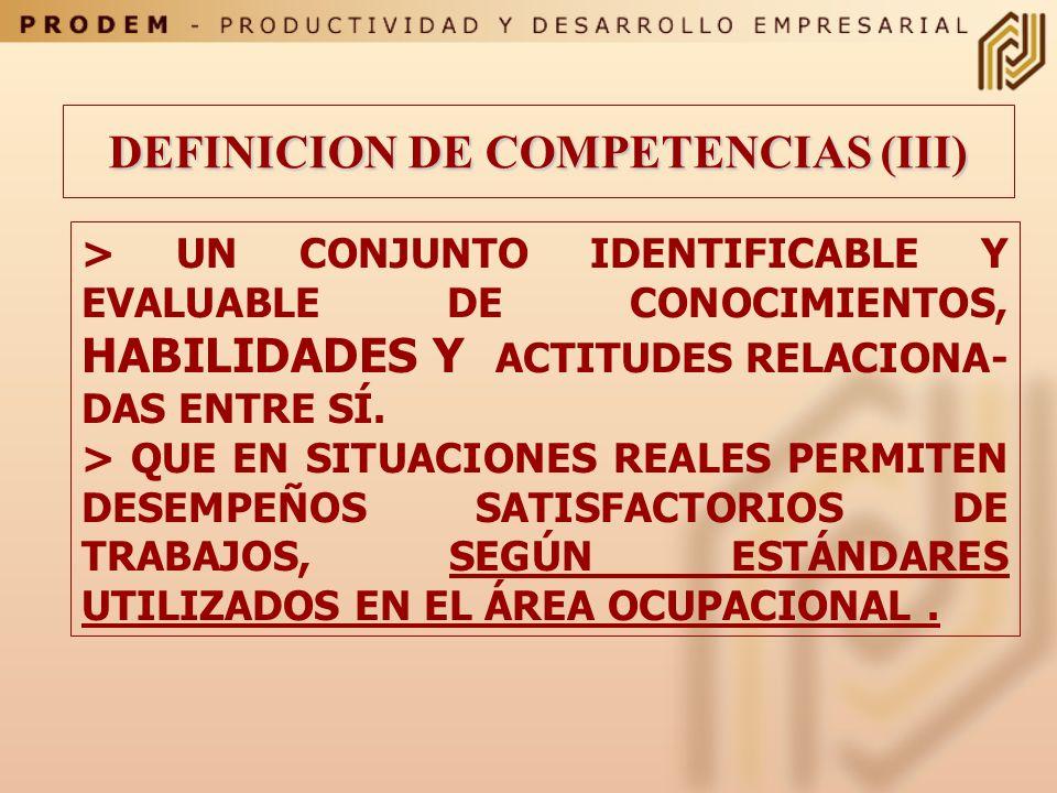 Posee competencia profesional quien: Dispone de los conocimientos, destrezas y aptitudes necesarias para ejercer una profesión Puede resolver los prob