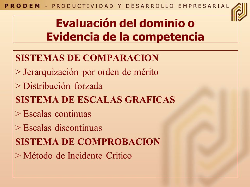 Formatos de Evaluación En él están las competencias que se consideran importantes de ser evaluadas regularmente. Su efectividad depende de aspectos co