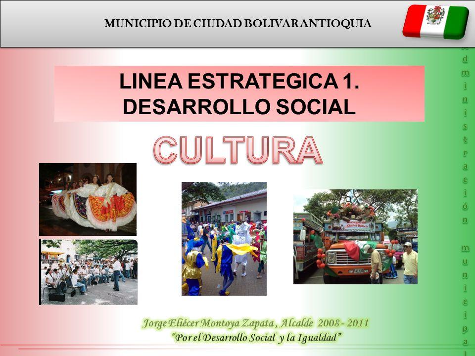 LINEA ESTRATEGICA 1-DESARROLLO SOCIAL CULTURA LINEA ESTRATEGICA 1-DESARROLLO SOCIAL CULTURA ESCUELA DE MÚSICA Fortalecimiento del talento artístico en el área musical, (interpretación de instrumentos musicales) por medio de talleres a niños del Municipio de Ciudad Bolívar.