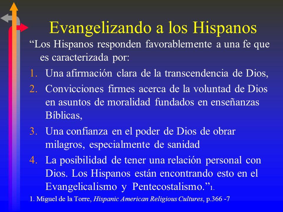B. Reuniones en los Hogares Razones que dan los líderes Católicos por qué tantos Hispanos son Evangélicos: La Iglesia Católica no tiene un contexto de