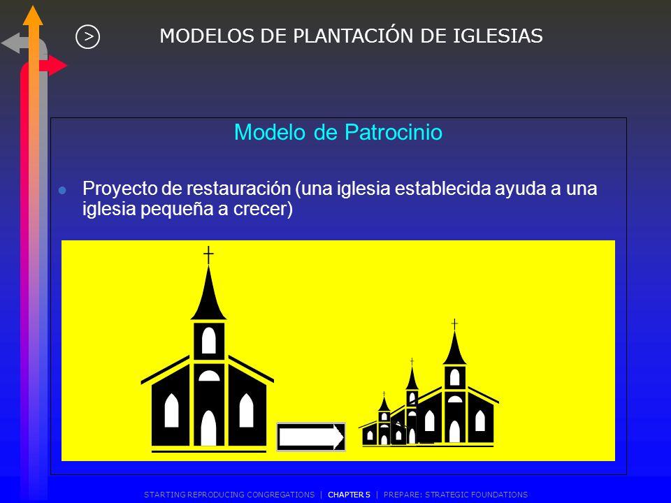 Iglesia con Congregaciones Satélites MODELOS DE PLANTACIÓN DE IGLESIAS > STARTING REPRODUCING CONGREGATIONS | CHAPTER 5 | PREPARE: STRATEGIC FOUNDATIO