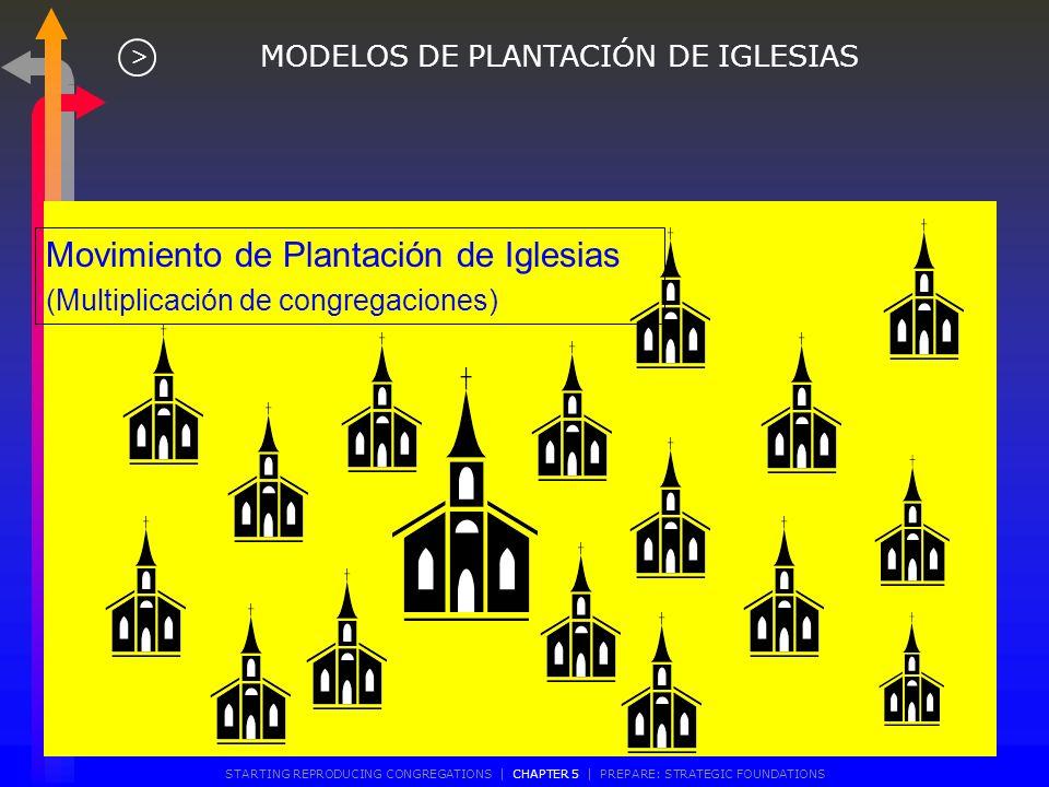 Modelo Multi-Congregacional (Una iglesia, varias congregaciones) MODELOS DE PLANTACIÓN DE IGLESIAS > STARTING REPRODUCING CONGREGATIONS | CHAPTER 5 |