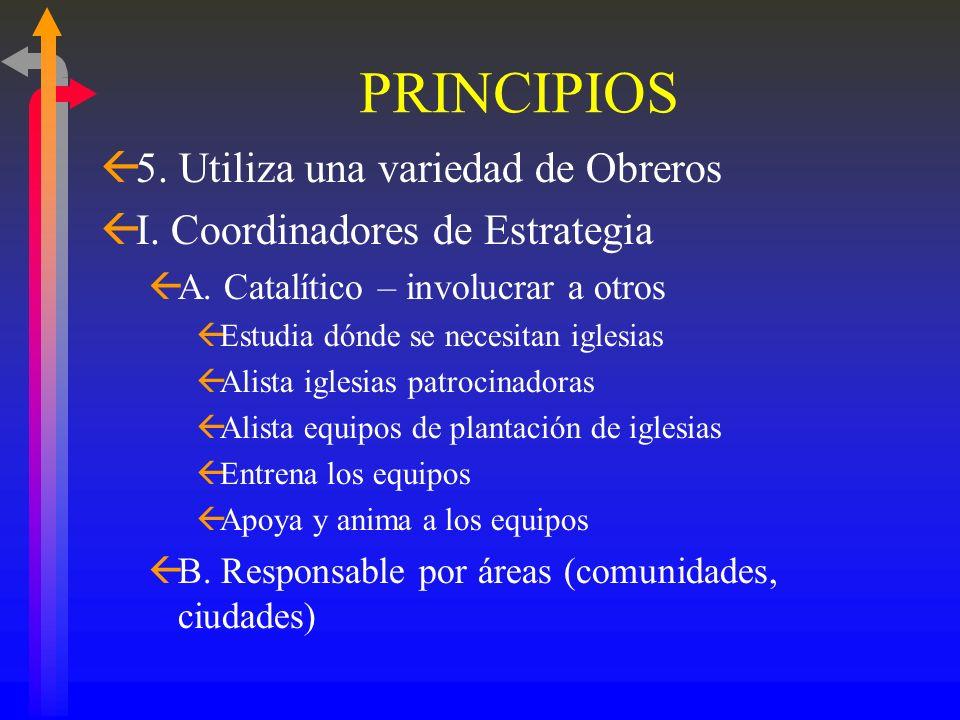 PRINCIPIOS ß1. Oración – específica y enfocada ß2. Grupos pequeños (hogares, garajes, techos, apartamentos, etc.) en redes ß3. Reproducción en su ADN