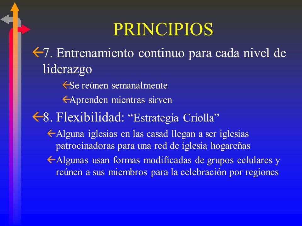 PRINCIPLES ß6. Reconocimiento de cada nivel de liderazgo ßA. Encargados (Comisionados por la iglesia) ßB. Obreros Laicos (Licencia de Obrero) ßC. Past