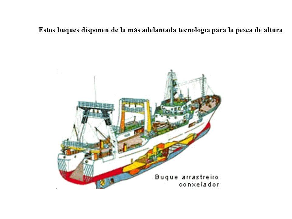 Estos buques disponen de la más adelantada tecnología para la pesca de altura
