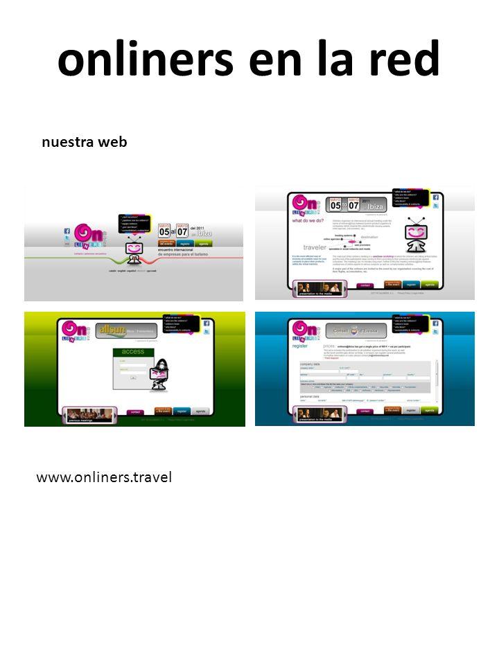 onliners en la red nuestra web www.onliners.travel