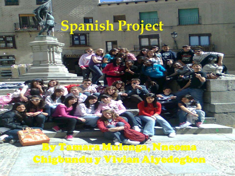 Spanish Project By Tamara Mulenga, Nneoma Chigbundu y Vivian Aiyedogbon