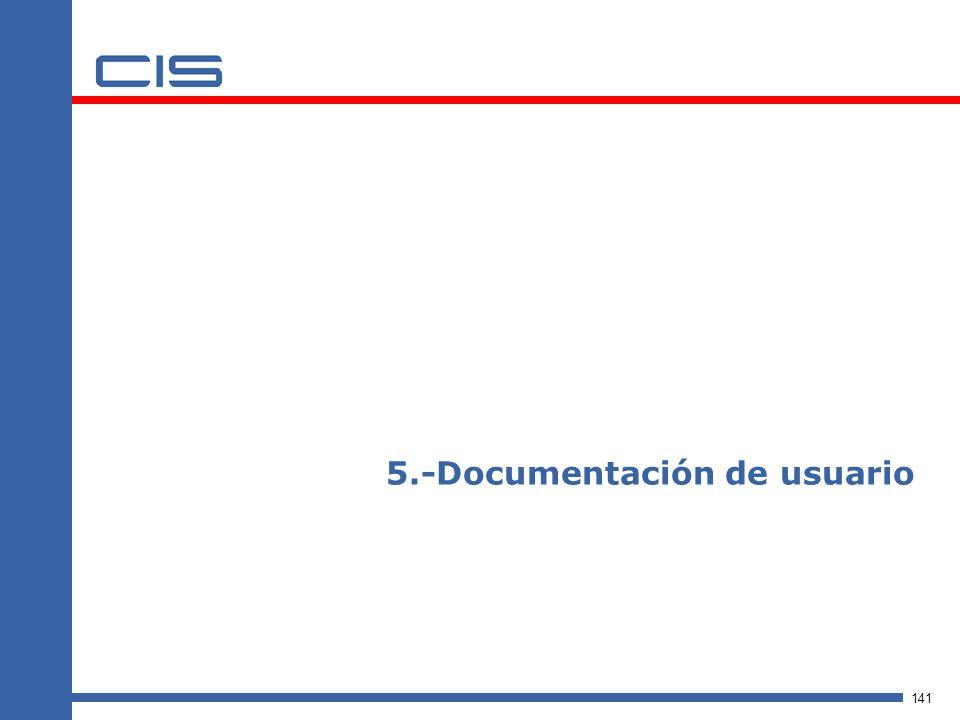 141 5.-Documentación de usuario