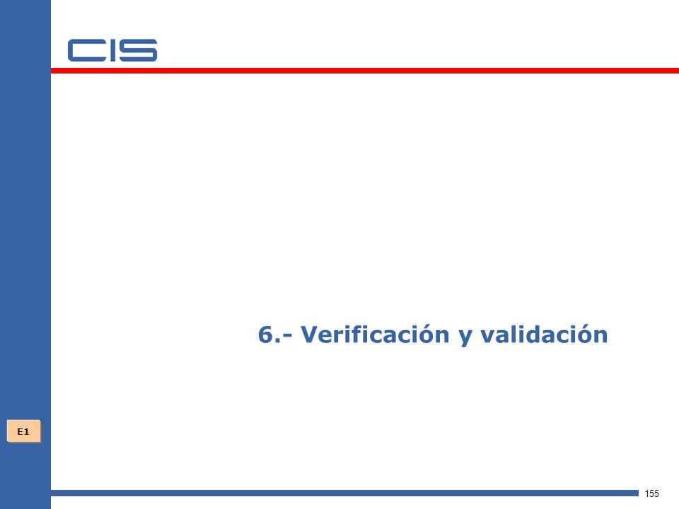 155 6.- Verificación y validación E1
