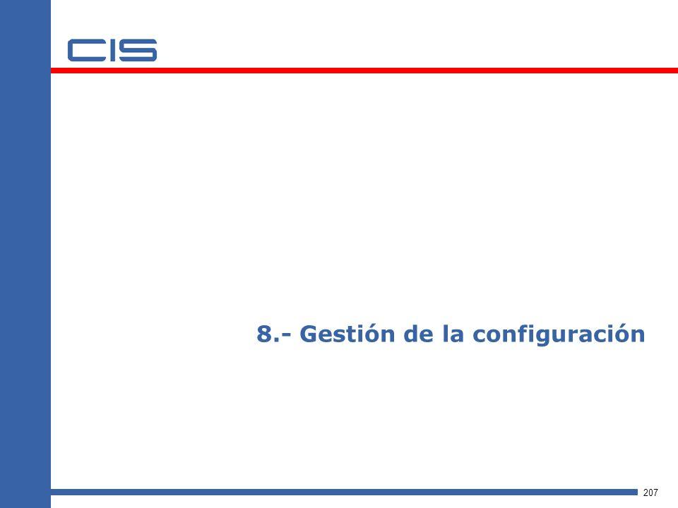 207 8.- Gestión de la configuración