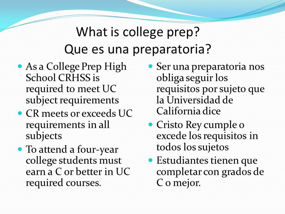 What is college prep.Que es una preparatoria.