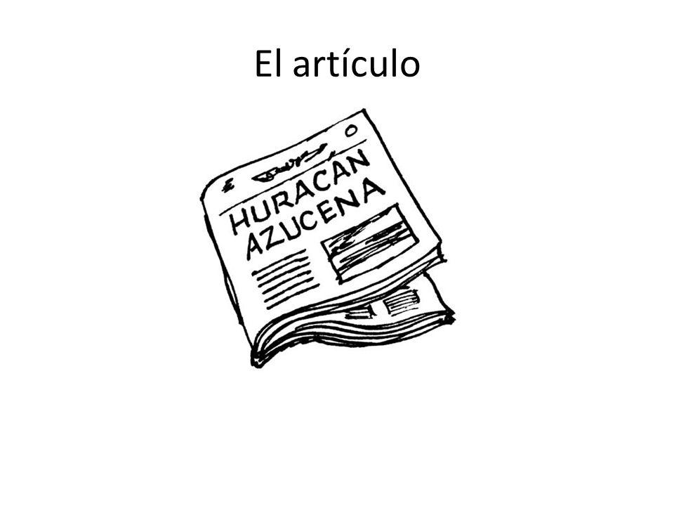 El artículo