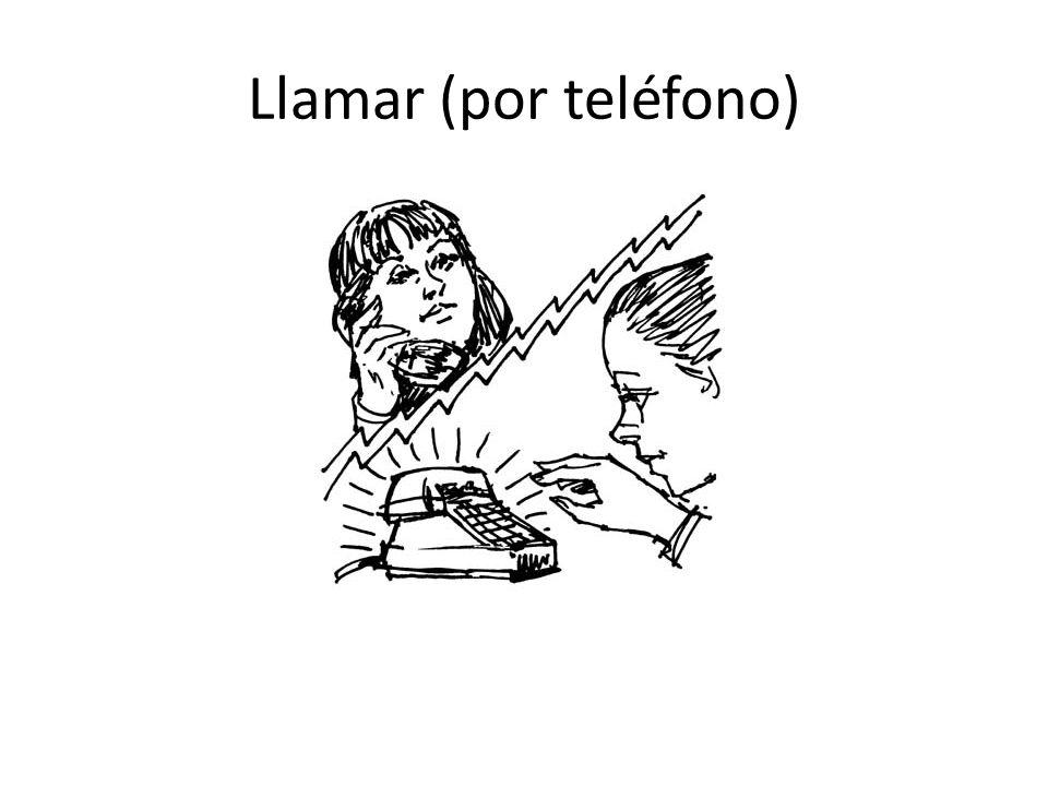Llamar (por teléfono)