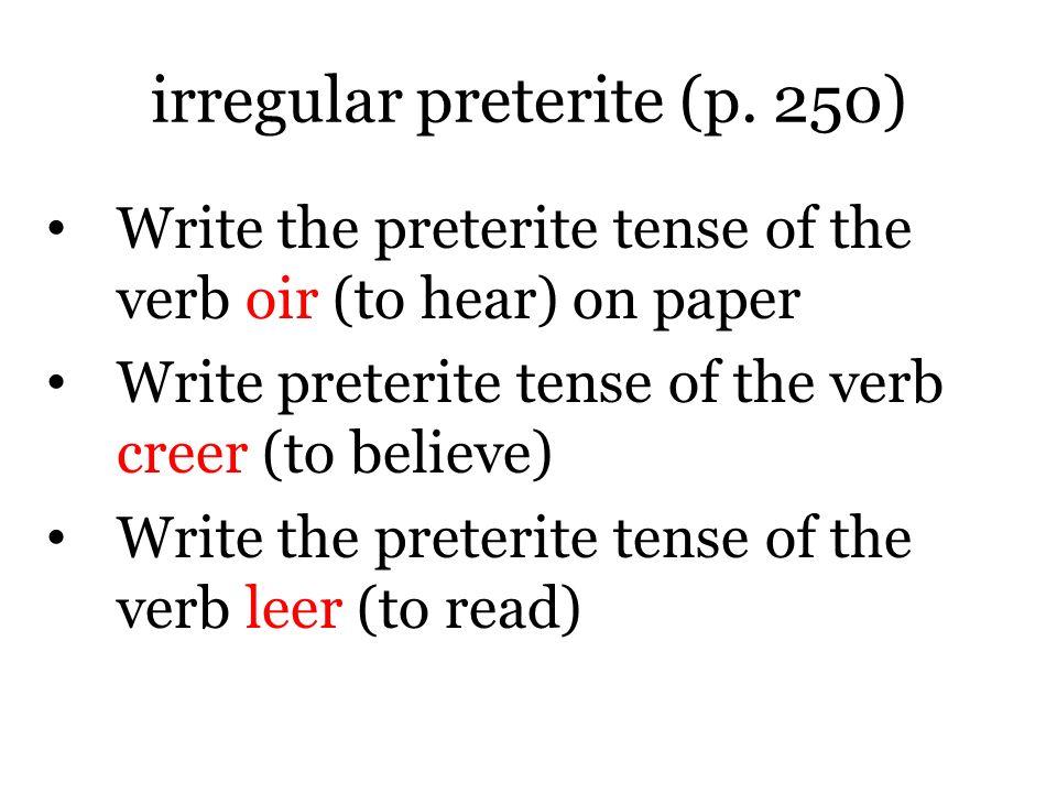 irregular preterite (p.
