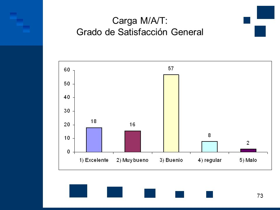 73 Carga M/A/T: Grado de Satisfacción General
