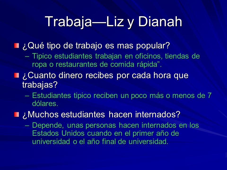 TrabajaLiz y Dianah ¿Qué tipo de trabajo es mas popular.