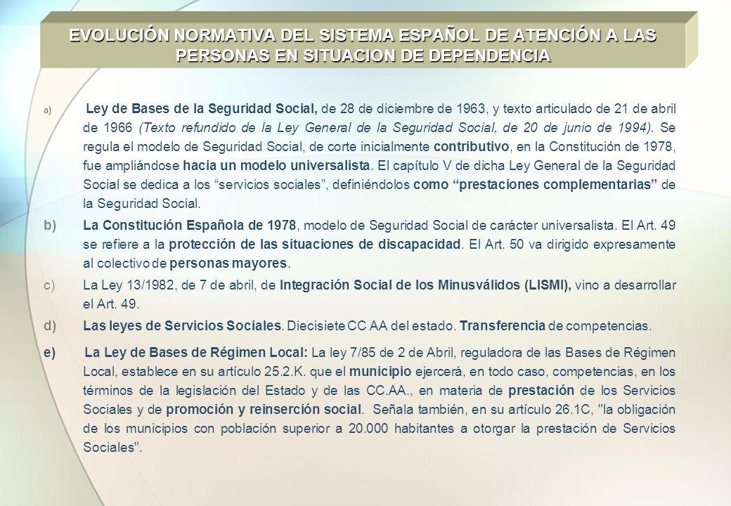 a) Ley de Bases de la Seguridad Social, de 28 de diciembre de 1963, y texto articulado de 21 de abril de 1966 (Texto refundido de la Ley General de la
