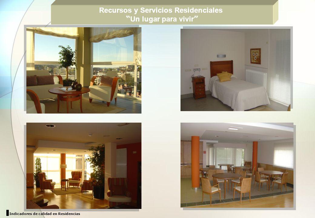 Recursos y Servicios Residenciales Un lugar para vivir Indicadores de calidad en Residencias