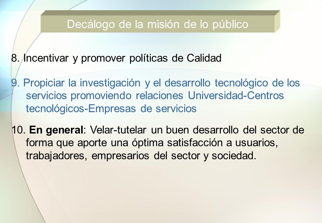 EJES CLAVES DEL SECTOR