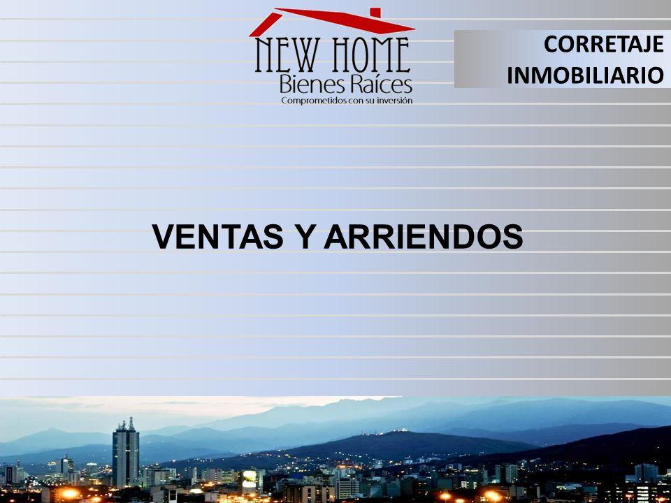 CORRETAJE INMOBILIARIO VENTAS Y ARRIENDOS