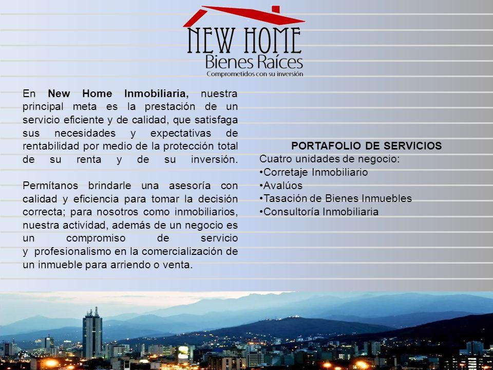 En New Home Inmobiliaria, nuestra principal meta es la prestación de un servicio eficiente y de calidad, que satisfaga sus necesidades y expectativas