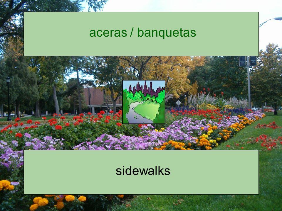 aceras / banquetas