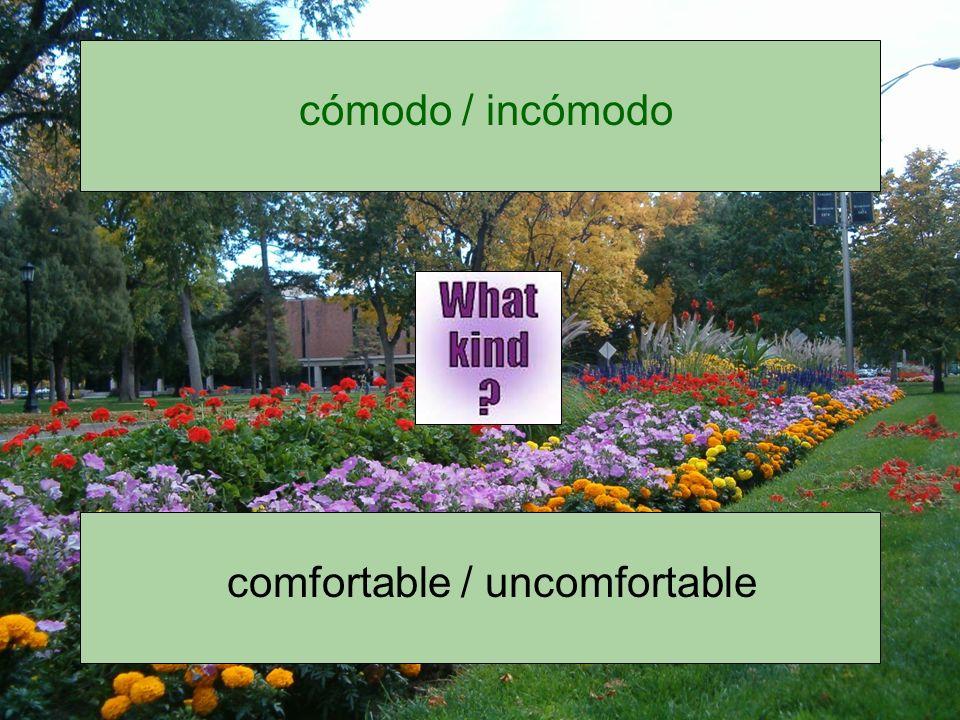 cómodo / incómodo
