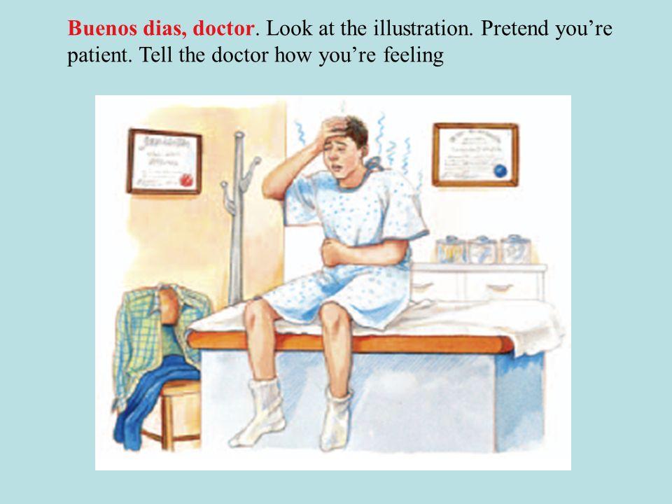 Historieta. Alberto esta enfermo, el pobre Corrijan las oraciones. Continue 6. La farmaceútica recrea unos antibioticos La médica receta unos antibiót