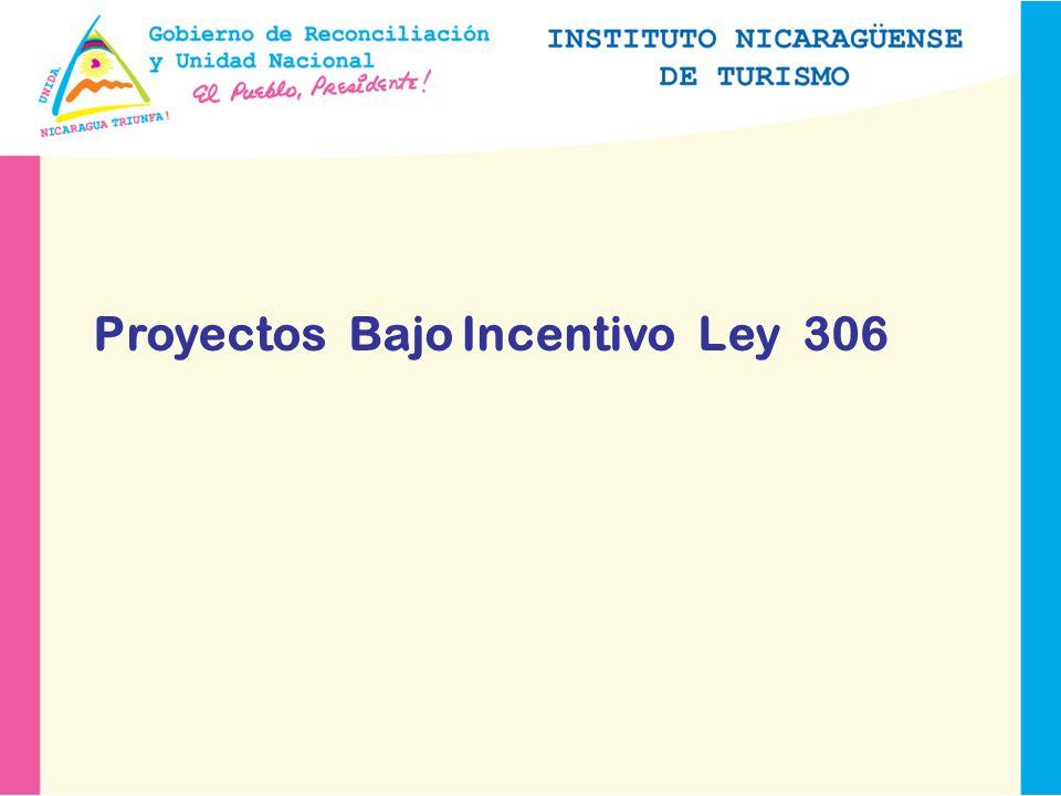Proyectos Bajo Incentivo Ley 306