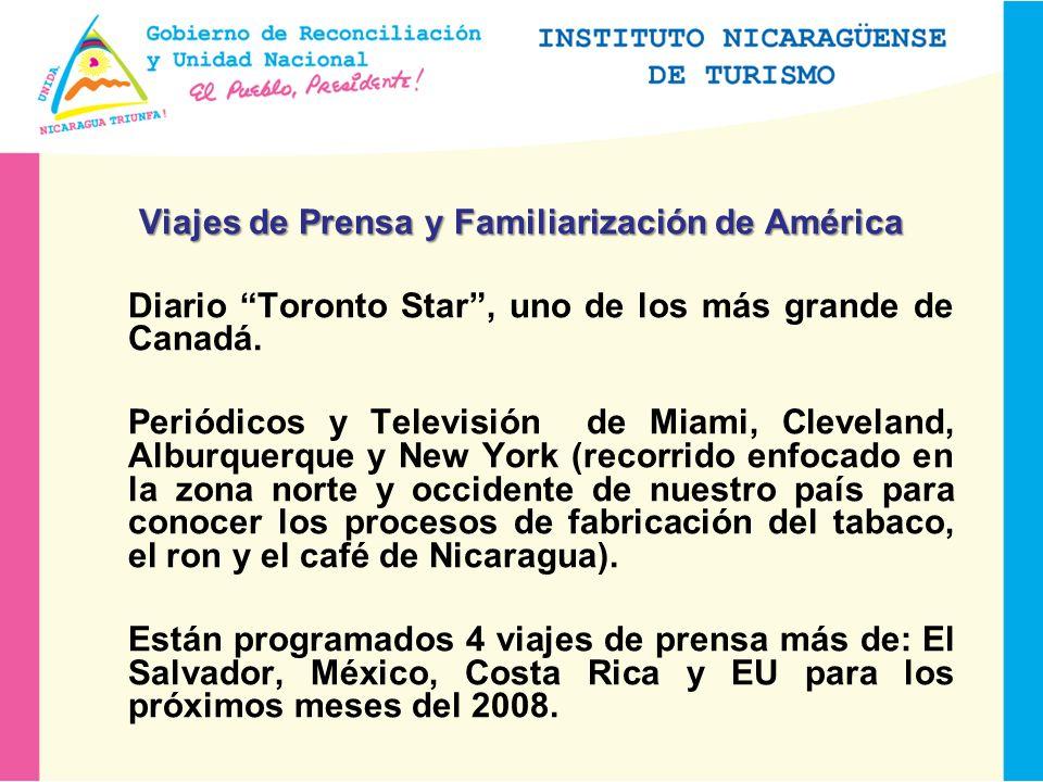 Viajes de Prensa y Familiarización de América Diario Toronto Star, uno de los más grande de Canadá.