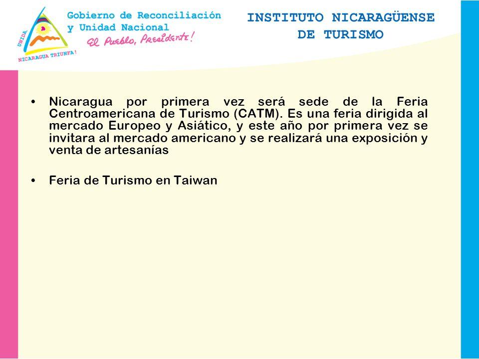 Nicaragua por primera vez será sede de la Feria Centroamericana de Turismo (CATM).