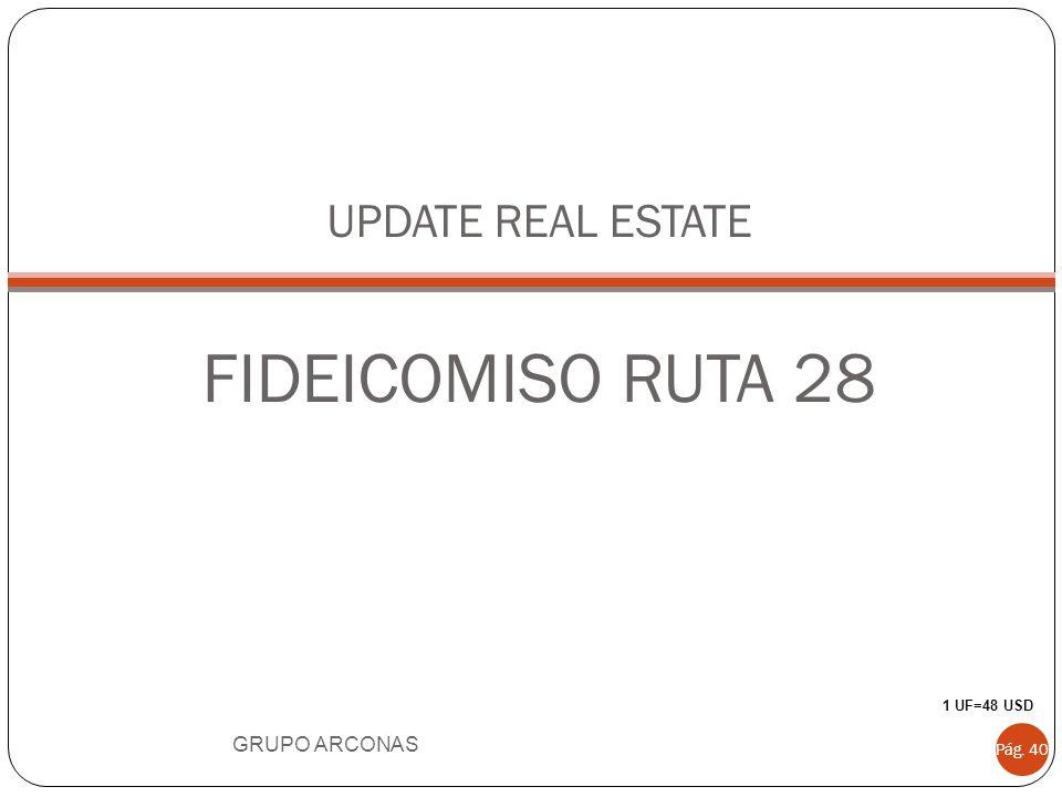 UPDATE REAL ESTATE FIDEICOMISO RUTA 28 GRUPO ARCONAS Pág. 40 1 UF=48 USD