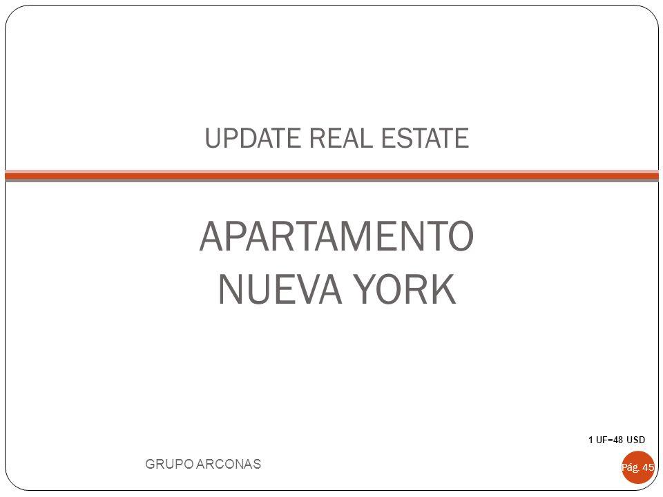 UPDATE REAL ESTATE APARTAMENTO NUEVA YORK GRUPO ARCONAS Pág. 45 1 UF=48 USD