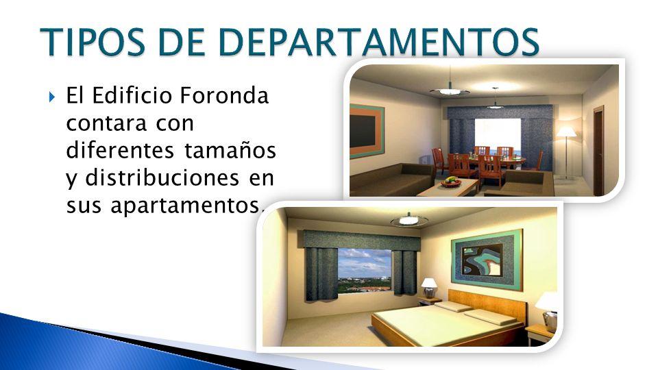 El Edificio Foronda contara con diferentes tamaños y distribuciones en sus apartamentos.