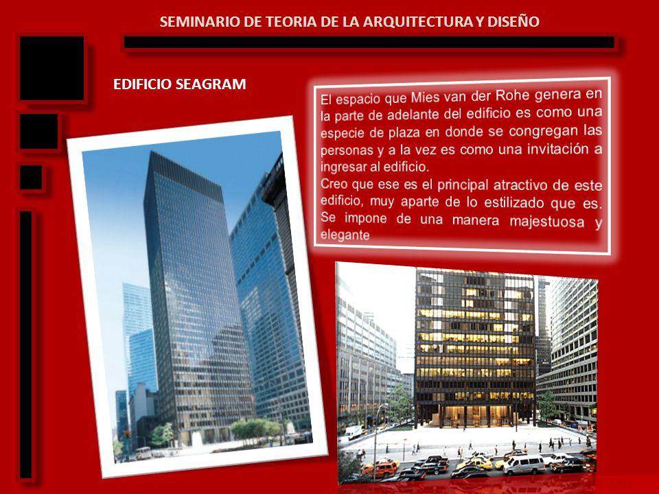 SEMINARIO DE TEORIA Y DISEÑO ARQ SEMINARIO DE TEORIA DE LA ARQUITECTURA Y DISEÑO CASA FARNSWORTH